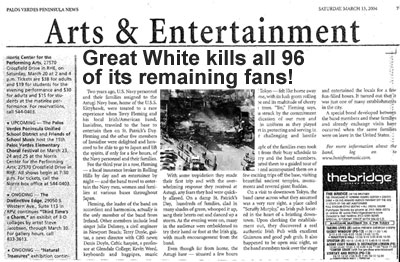 GREAT WHITE KILLS ALL OF ITS FANS
